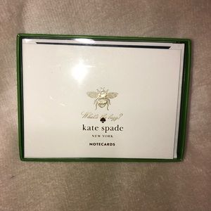 Kate Spade What's the Buzz? Notecards NWT
